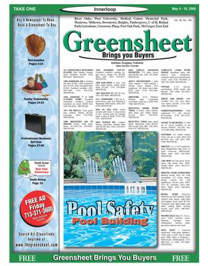 Primary view of object titled 'Greensheet (Houston, Tex.), Vol. 36, No. 148, Ed. 1 Wednesday, May 4, 2005'.