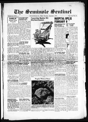Primary view of object titled 'The Seminole Sentinel (Seminole, Tex.), Vol. 32, No. 51, Ed. 1 Thursday, February 1, 1940'.