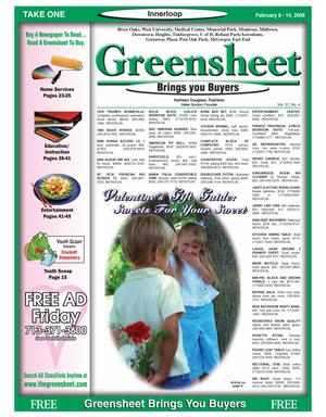 Primary view of object titled 'Greensheet (Houston, Tex.), Vol. 37, No. 4, Ed. 1 Wednesday, February 8, 2006'.