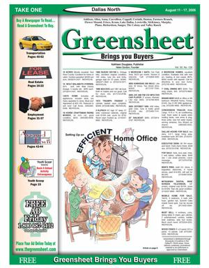 Primary view of object titled 'Greensheet (Dallas, Tex.), Vol. 30, No. 126, Ed. 1 Friday, August 11, 2006'.