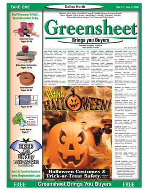 Primary view of object titled 'Greensheet (Dallas, Tex.), Vol. 30, No. 203, Ed. 1 Friday, October 27, 2006'.