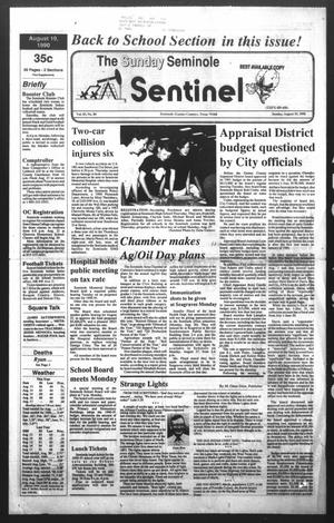 Primary view of object titled 'The Seminole Sentinel (Seminole, Tex.), Vol. 83, No. 84, Ed. 1 Sunday, August 19, 1990'.