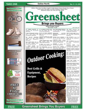 Primary view of object titled 'Greensheet (Dallas, Tex.), Vol. 30, No. 42, Ed. 1 Friday, May 19, 2006'.