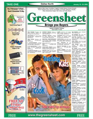 Primary view of object titled 'Greensheet (Dallas, Tex.), Vol. 31, No. 287, Ed. 1 Friday, January 18, 2008'.