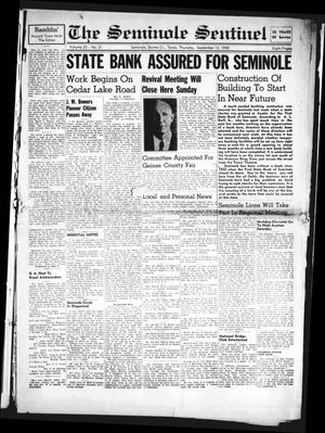 Primary view of object titled 'The Seminole Sentinel (Seminole, Tex.), Vol. 33, No. 31, Ed. 1 Thursday, September 12, 1940'.