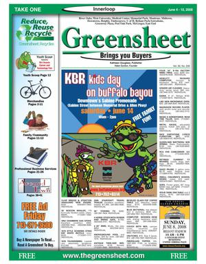 Primary view of object titled 'Greensheet (Houston, Tex.), Vol. 39, No. 208, Ed. 1 Wednesday, June 4, 2008'.