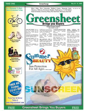 Primary view of object titled 'Greensheet (Houston, Tex.), Vol. 36, No. 184, Ed. 1 Wednesday, May 25, 2005'.