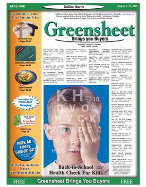Primary view of object titled 'Greensheet (Dallas, Tex.), Vol. 29, No. 119, Ed. 1 Friday, August 5, 2005'.