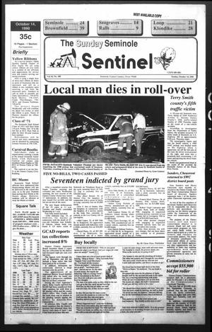 Primary view of object titled 'The Seminole Sentinel (Seminole, Tex.), Vol. 83, No. 100, Ed. 1 Sunday, October 14, 1990'.