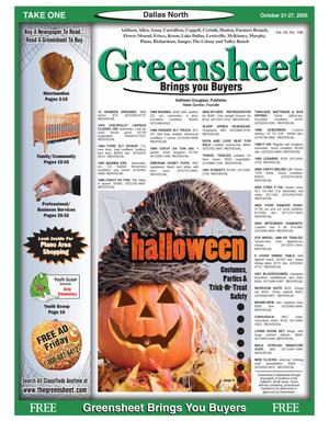 Primary view of object titled 'Greensheet (Dallas, Tex.), Vol. 29, No. 196, Ed. 1 Friday, October 21, 2005'.