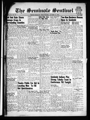 Primary view of object titled 'The Seminole Sentinel (Seminole, Tex.), Vol. 34, No. 37, Ed. 1 Thursday, October 16, 1941'.