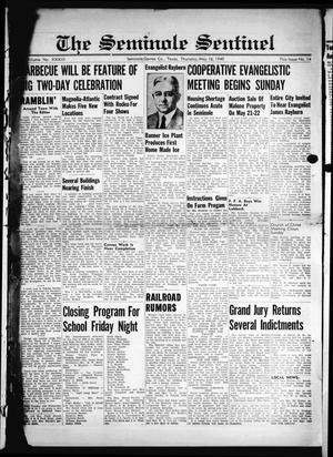 Primary view of The Seminole Sentinel (Seminole, Tex.), Vol. 33, No. 14, Ed. 1 Thursday, May 16, 1940