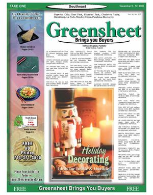 Primary view of object titled 'Greensheet (Houston, Tex.), Vol. 36, No. 517, Ed. 1 Tuesday, December 6, 2005'.