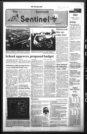 Primary view of object titled 'The Seminole Sentinel (Seminole, Tex.), Vol. 83, No. 85, Ed. 1 Wednesday, August 22, 1990'.