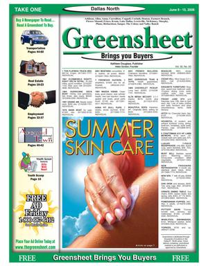 Primary view of object titled 'Greensheet (Dallas, Tex.), Vol. 30, No. 63, Ed. 1 Friday, June 9, 2006'.