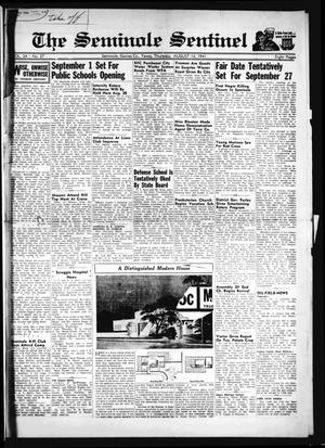 Primary view of object titled 'The Seminole Sentinel (Seminole, Tex.), Vol. 34, No. 27, Ed. 1 Thursday, August 14, 1941'.