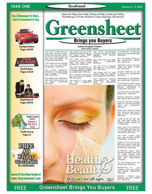 Primary view of object titled 'Greensheet (Houston, Tex.), Vol. 36, No. 565, Ed. 1 Tuesday, January 3, 2006'.