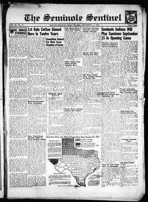 Primary view of object titled 'The Seminole Sentinel (Seminole, Tex.), Vol. 34, No. 31, Ed. 1 Thursday, September 11, 1941'.