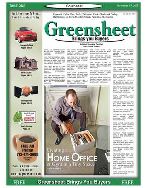 Primary view of object titled 'Greensheet (Houston, Tex.), Vol. 36, No. 457, Ed. 1 Tuesday, November 1, 2005'.