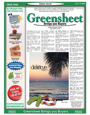 Primary view of object titled 'Greensheet (Dallas, Tex.), Vol. 29, No. 56, Ed. 1 Friday, June 3, 2005'.