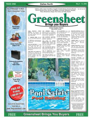 Primary view of object titled 'Greensheet (Dallas, Tex.), Vol. 29, No. 28, Ed. 1 Friday, May 6, 2005'.