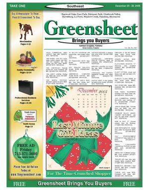 Primary view of object titled 'Greensheet (Houston, Tex.), Vol. 36, No. 541, Ed. 1 Tuesday, December 20, 2005'.