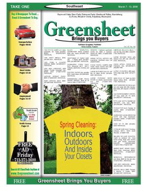Primary view of object titled 'Greensheet (Houston, Tex.), Vol. 37, No. 49, Ed. 1 Tuesday, March 7, 2006'.