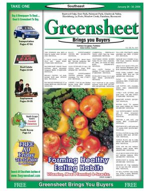 Primary view of object titled 'Greensheet (Houston, Tex.), Vol. 36, No. 601, Ed. 1 Tuesday, January 24, 2006'.