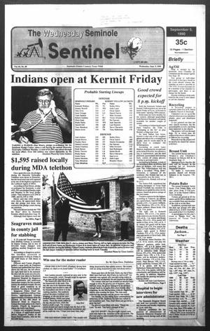 Primary view of object titled 'The Seminole Sentinel (Seminole, Tex.), Vol. 83, No. 89, Ed. 1 Wednesday, September 5, 1990'.