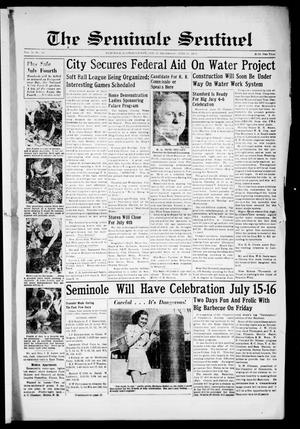 Primary view of object titled 'The Seminole Sentinel (Seminole, Tex.), Vol. 31, No. 18, Ed. 1 Thursday, June 30, 1938'.