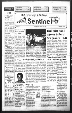 Primary view of object titled 'The Seminole Sentinel (Seminole, Tex.), Vol. 83, No. 96, Ed. 1 Sunday, September 30, 1990'.