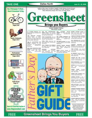 Primary view of object titled 'Greensheet (Dallas, Tex.), Vol. 30, No. 70, Ed. 1 Friday, June 16, 2006'.