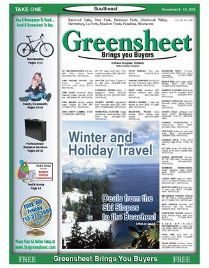 Primary view of object titled 'Greensheet (Houston, Tex.), Vol. 36, No. 469, Ed. 1 Tuesday, November 8, 2005'.