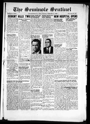 Primary view of object titled 'The Seminole Sentinel (Seminole, Tex.), Vol. 32, No. 52, Ed. 1 Thursday, February 8, 1940'.