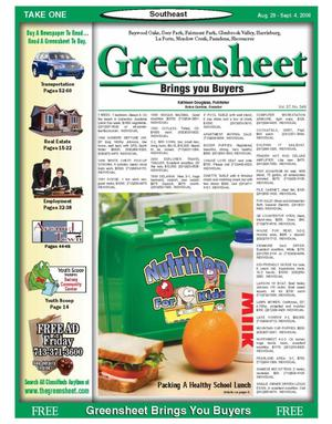 Primary view of object titled 'Greensheet (Houston, Tex.), Vol. 37, No. 349, Ed. 1 Tuesday, August 29, 2006'.