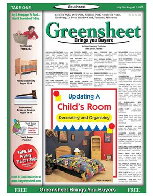 Primary view of object titled 'Greensheet (Houston, Tex.), Vol. 36, No. 289, Ed. 1 Tuesday, July 26, 2005'.