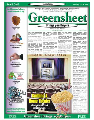 Primary view of object titled 'Greensheet (Houston, Tex.), Vol. 37, No. 28, Ed. 1 Wednesday, February 22, 2006'.