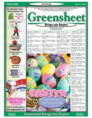 Primary view of object titled 'Greensheet (Houston, Tex.), Vol. 38, No. 100, Ed. 1 Wednesday, April 4, 2007'.
