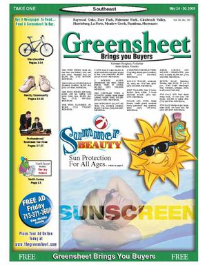 Primary view of object titled 'Greensheet (Houston, Tex.), Vol. 36, No. 181, Ed. 1 Tuesday, May 24, 2005'.