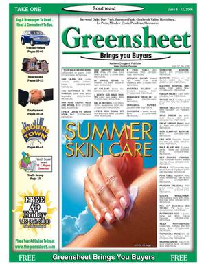 Primary view of object titled 'Greensheet (Houston, Tex.), Vol. 37, No. 205, Ed. 1 Tuesday, June 6, 2006'.