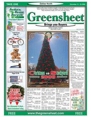 Primary view of object titled 'Greensheet (Dallas, Tex.), Vol. 32, No. 252, Ed. 1 Friday, December 12, 2008'.