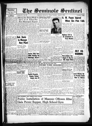 Primary view of object titled 'The Seminole Sentinel (Seminole, Tex.), Vol. 33, No. 20, Ed. 1 Thursday, June 27, 1940'.