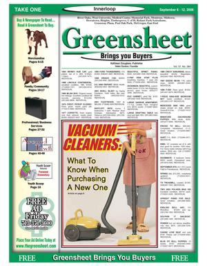 Primary view of object titled 'Greensheet (Houston, Tex.), Vol. 37, No. 364, Ed. 1 Wednesday, September 6, 2006'.