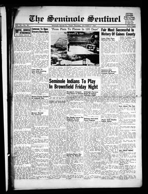 Primary view of object titled 'The Seminole Sentinel (Seminole, Tex.), Vol. 34, No. 36, Ed. 1 Thursday, October 9, 1941'.