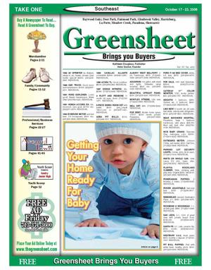 Primary view of object titled 'Greensheet (Houston, Tex.), Vol. 37, No. 433, Ed. 1 Tuesday, October 17, 2006'.
