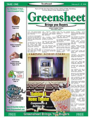 Primary view of object titled 'Greensheet (Houston, Tex.), Vol. 37, No. 25, Ed. 1 Tuesday, February 21, 2006'.
