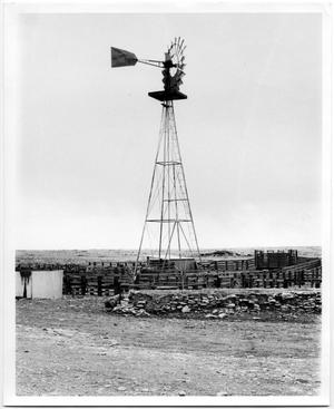 Primary view of object titled 'Windmill Over a Corral'.