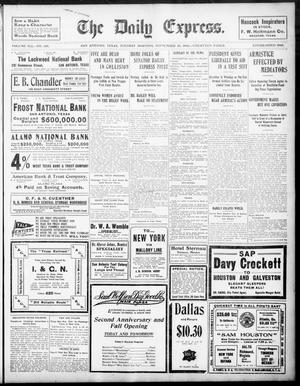 Primary view of object titled 'The Daily Express. (San Antonio, Tex.), Vol. 41, No. 268, Ed. 1 Tuesday, September 25, 1906'.