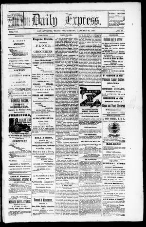 Daily Express. (San Antonio, Tex.), Vol. 8, No. 16, Ed. 1 Wednesday, January 21, 1874