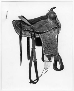 Primary view of object titled 'Tooled Western Saddle'.